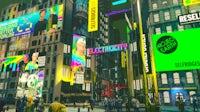 Electric/City, a virtual world by Selfridges, Charli Cohen, and Yahoo Ryot Lab. Yahoo.
