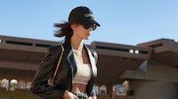 Kaia Gerber models Celine's Generation Z-inspired spring collection in Monaco. Celine.