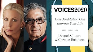 Carmen Busquets and Deepak Chopra.