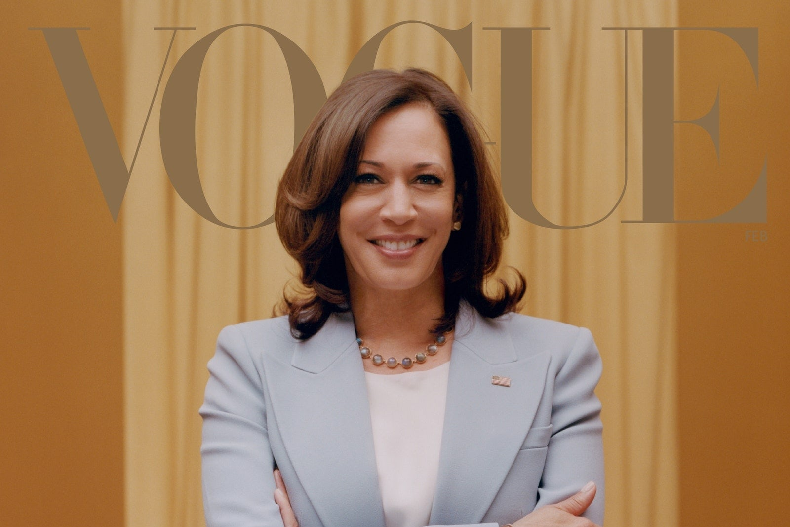 Vice President-Elect Kamala Harris on the cover of Vogue. Tyler Mitchell.