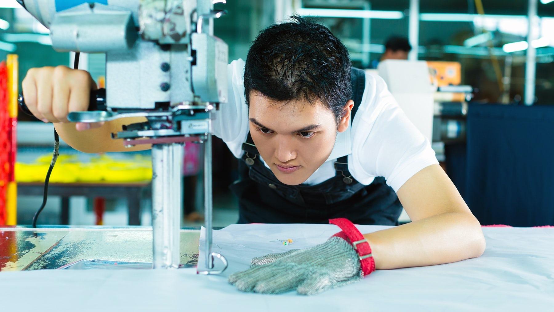 Inside a China garment factory. Shutterstock.