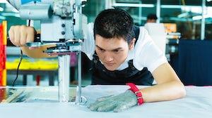 Inside a China garment factory. Shutterstock