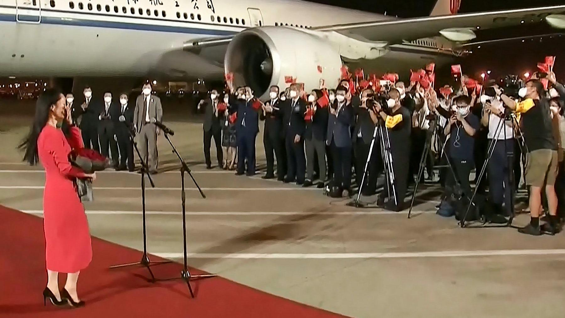 Huawei CFO Meng Wanzhou returns to China. Getty Images.