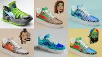 RTFKT的NFT运动鞋融合了街头服饰和游戏。RTFKT。