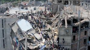 Rana Plaza collapse in 2013. Shutterstock.