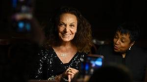 Diane von Furstenberg attends the DVF 2020 Awards. Getty Images.