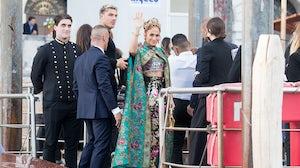 Jennifer Lopez attends Dolce & Gabbana's Alta Moda show in Venice. Getty Images.