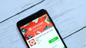 Carousell app. Shutterstock.