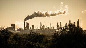 Factory emissions. Shutterstock.