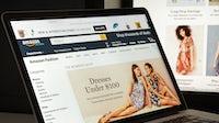 Amazon.com website. Shutterstock.