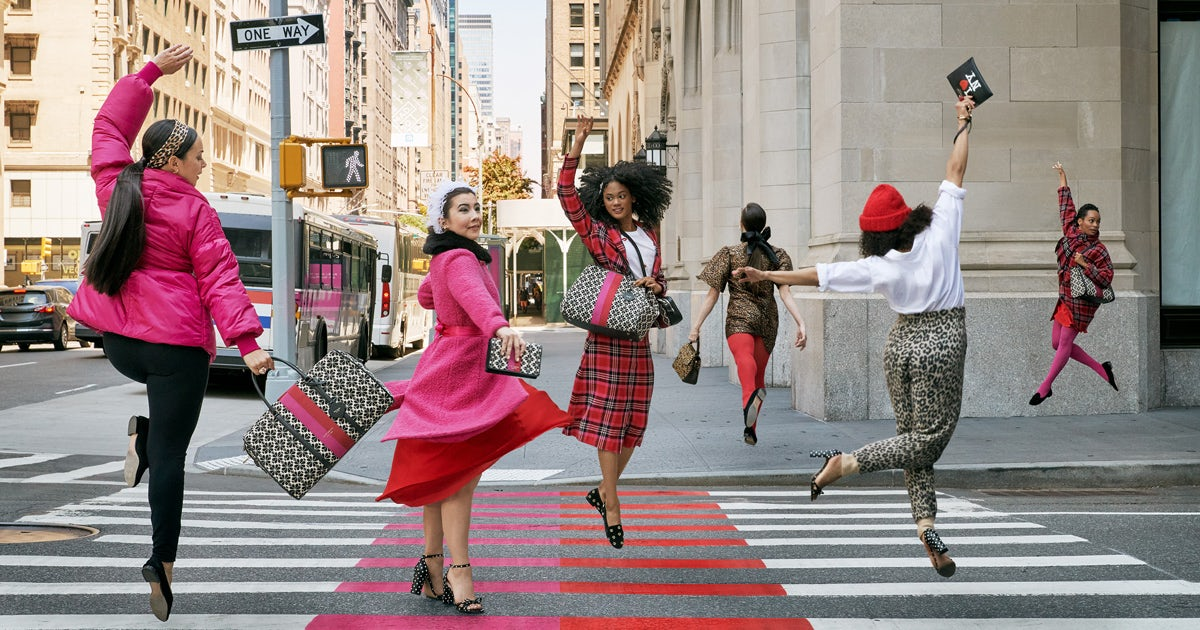 Kate Spade\'s fall campaign focuses on its new signature print. Kate Spade