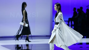 A runway show at China Fashion Week in Beijing. China Fashion Week