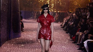 A look from Dior's Pre-Fall 2021 collection on the runway in Shanghai. Dior