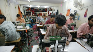 Textile workers in an Indian factory. Shutterstock