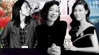 Modern Weekly's Duscher Tang, Elle China's Xue Jian and Harper Bazaar China's Sha Xiaoli. BoF.