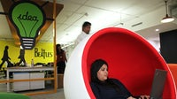 An employee at Myntra's office in India. Getty Images.