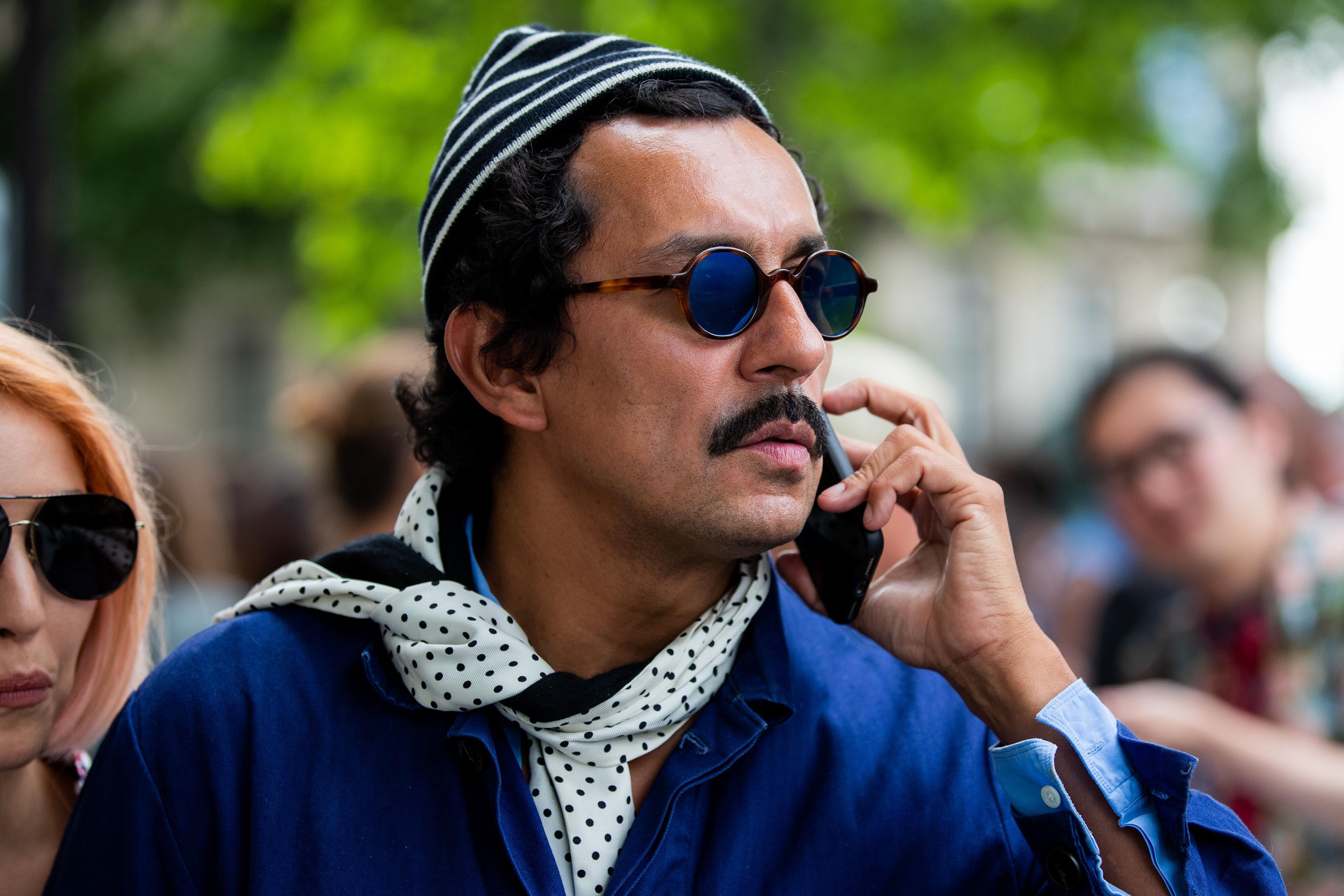 Haider Ackermann during Paris Fashion Week. Getty Images.