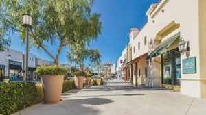 Outdoor shopping mall. Shutterstock.