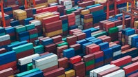 Cargo freight containers at Hong Kong's sea port. Source: Shutterstock.