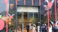 A long lines of customers outside the Gucci story on Chengdu International Finance Square, an internationally recognised urban complex in the Western Chinese city of Chengdu. Getty Images.