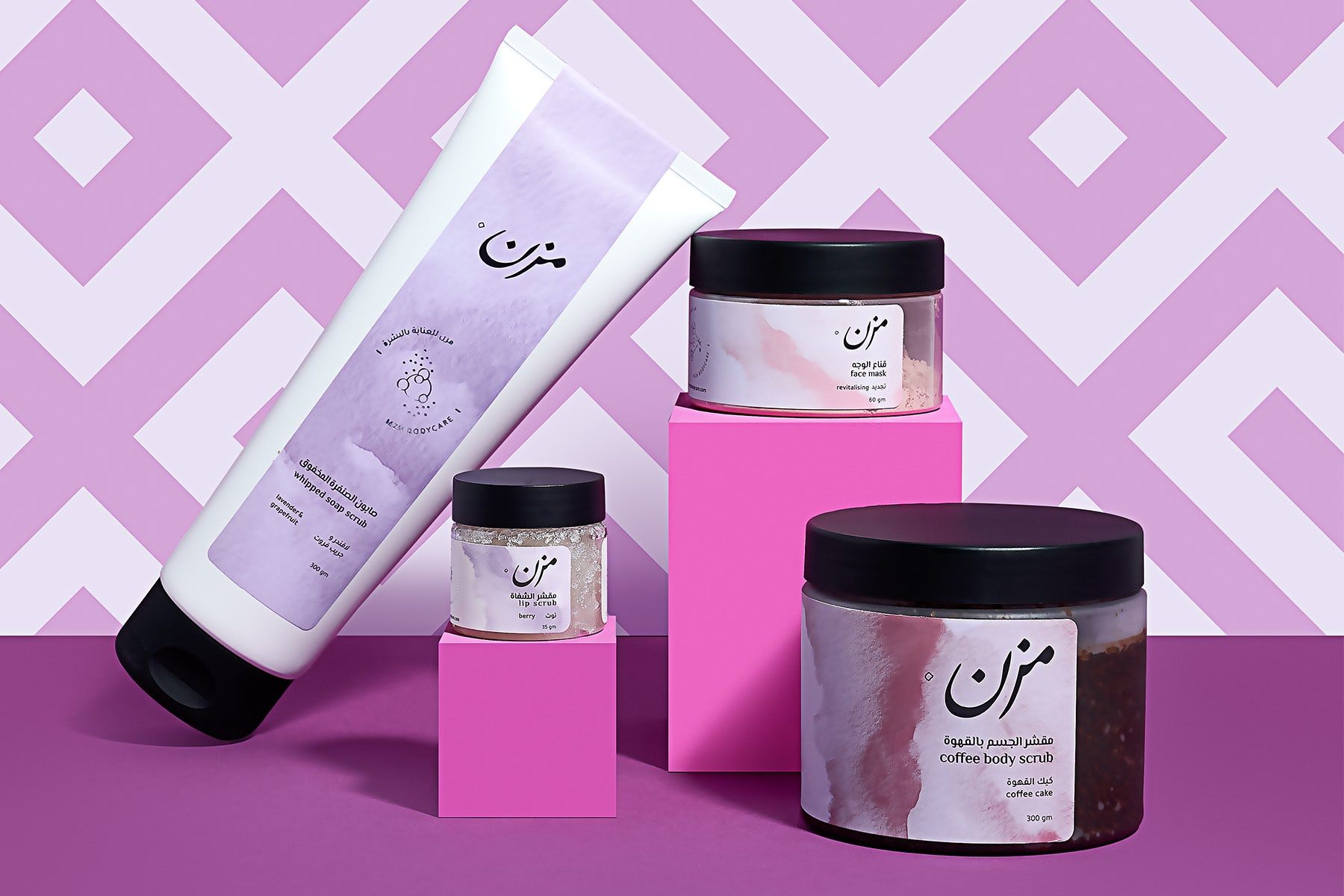 MZN Bodycare collection. The Chalhoub Greenhouse.