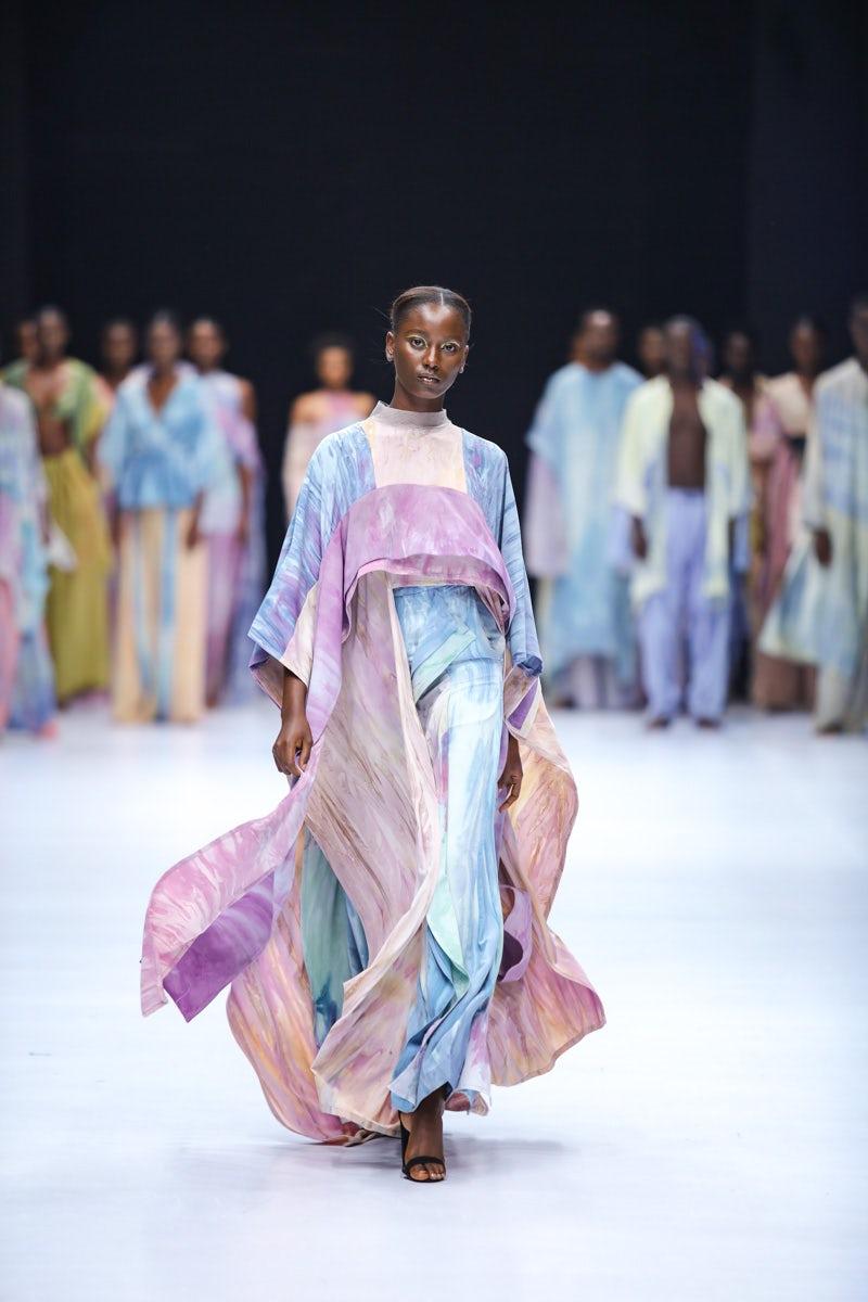 Sisiano at Lagos Fashion Week 2021. Kola Oshalusi for Lagos Fashion Week.