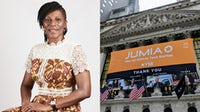 Juliet Anammah, chairperson at Jumia Nigeria and head institutional affairs at Jumia Group; Jumia's IPO in 2019. Jumia; Shutterstock.
