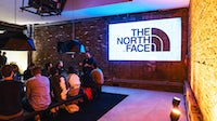 The North Face's head of global creative Tim Hamilton leads a team discussion. The North Face.