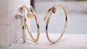 """Cartier's classic """"Juste un Clou"""" bracelet. Cartier."""