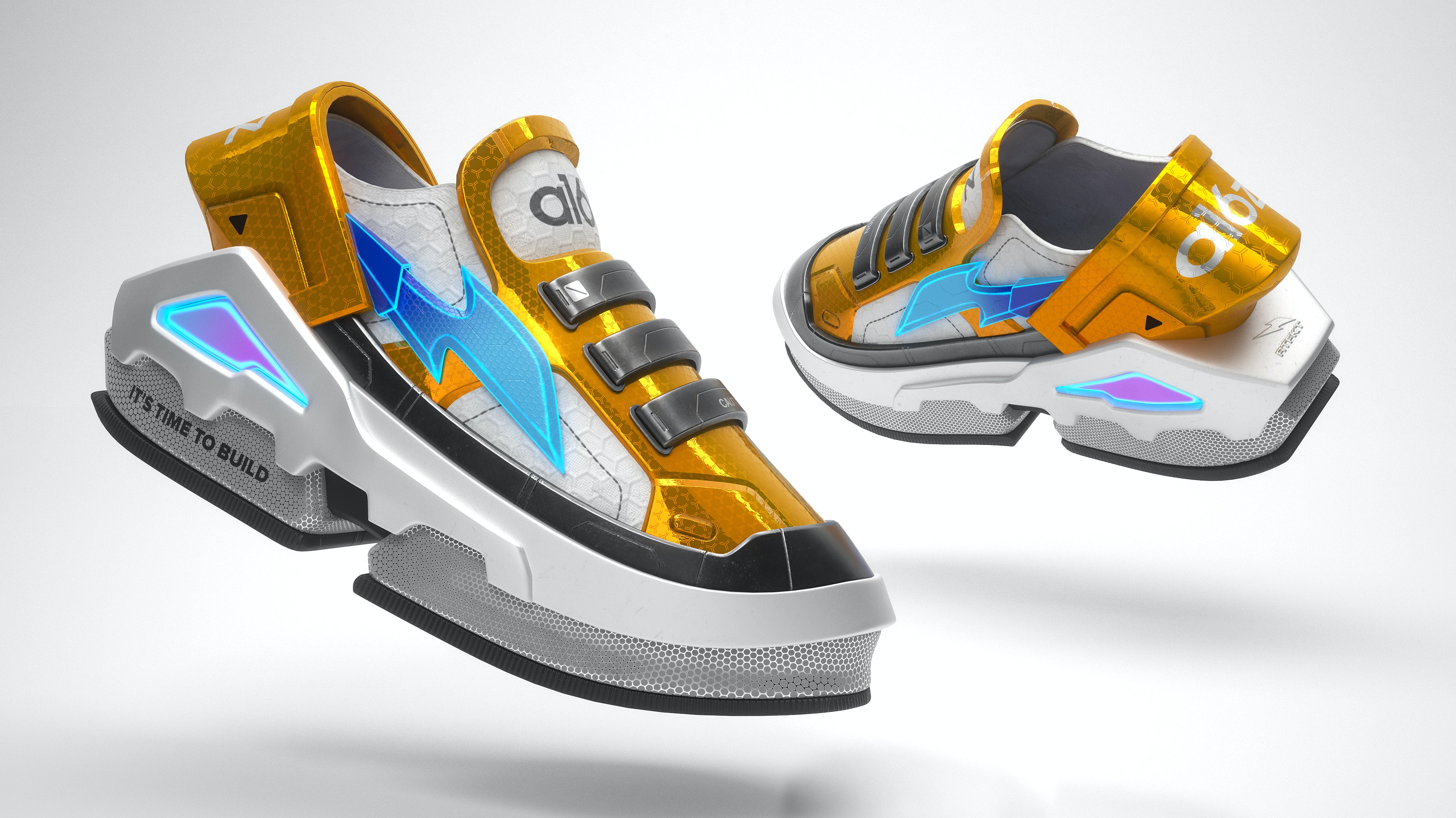 A pair of virtual sneakers produced by RTFKT. RTFKT.
