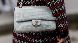 Crocodile Chanel bag. Getty Images.