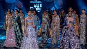 Looks from Manish Malhotra's show as part of the joint FDCI x Lakme Fashion Week event. FDCI x Lakme Fashion Week