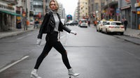 A woman wearing skinny jeans. Getty Images.