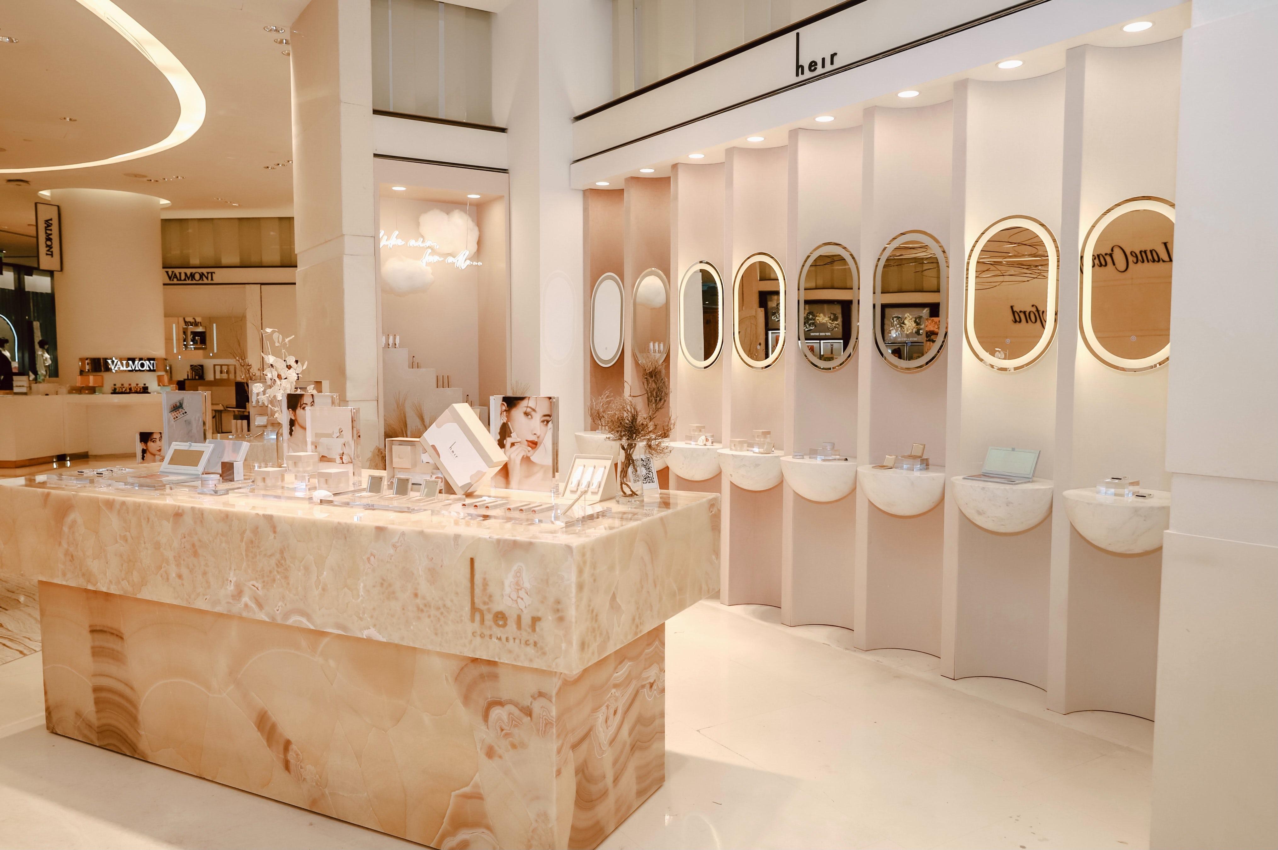 The Heir Cosmetics display at Lane Crawford Shanghai. Heir Cosmetics.