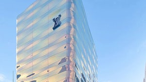 Louis Vuitton's newly re-opened Ginza store has a facade inspired by the waves of Tokyo Bay. Louis Vuitton