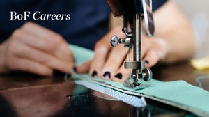 Designer using sewing machine, BoF Careers 2021. Getty Images.