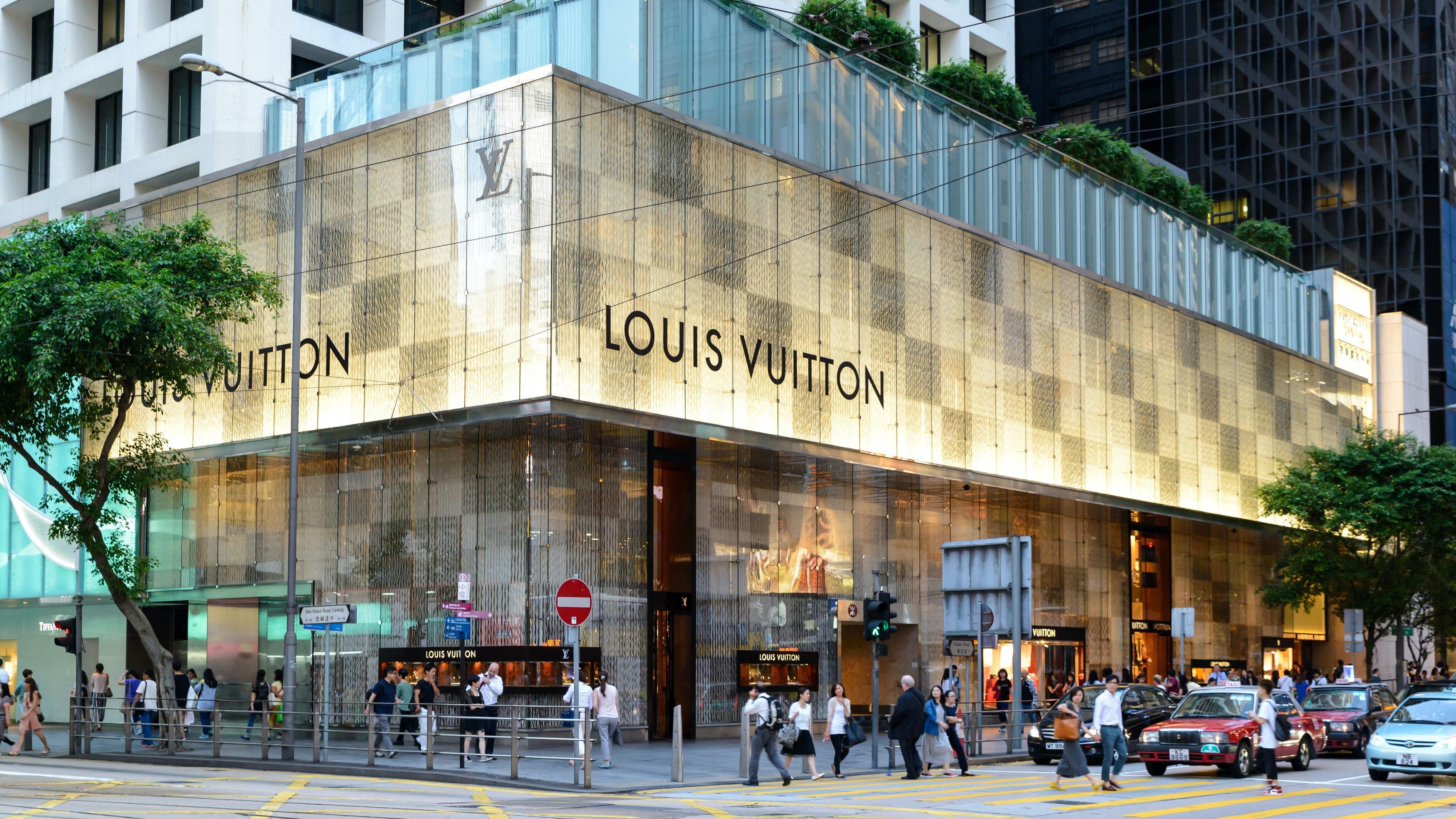 A Louis Vuitton store in Hong Kong. Shutterstock.