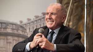 François Pinault during the conference about the Bourse de Commerce. Shutterstock.