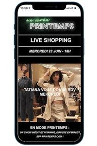 Printemps launches livestream shopping. Printemps.