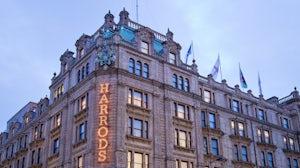 Harrods department store in Knightsbridge, London. Shutterstock.