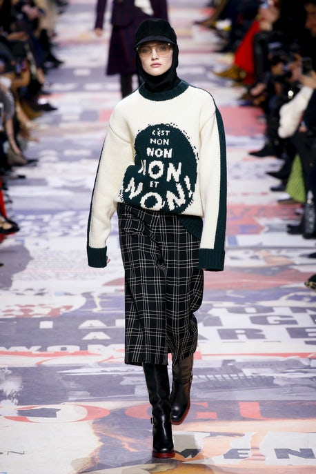 0799d22c5b3 A Mesh of the Personal and Political at Dior | Fashion Show Review ...