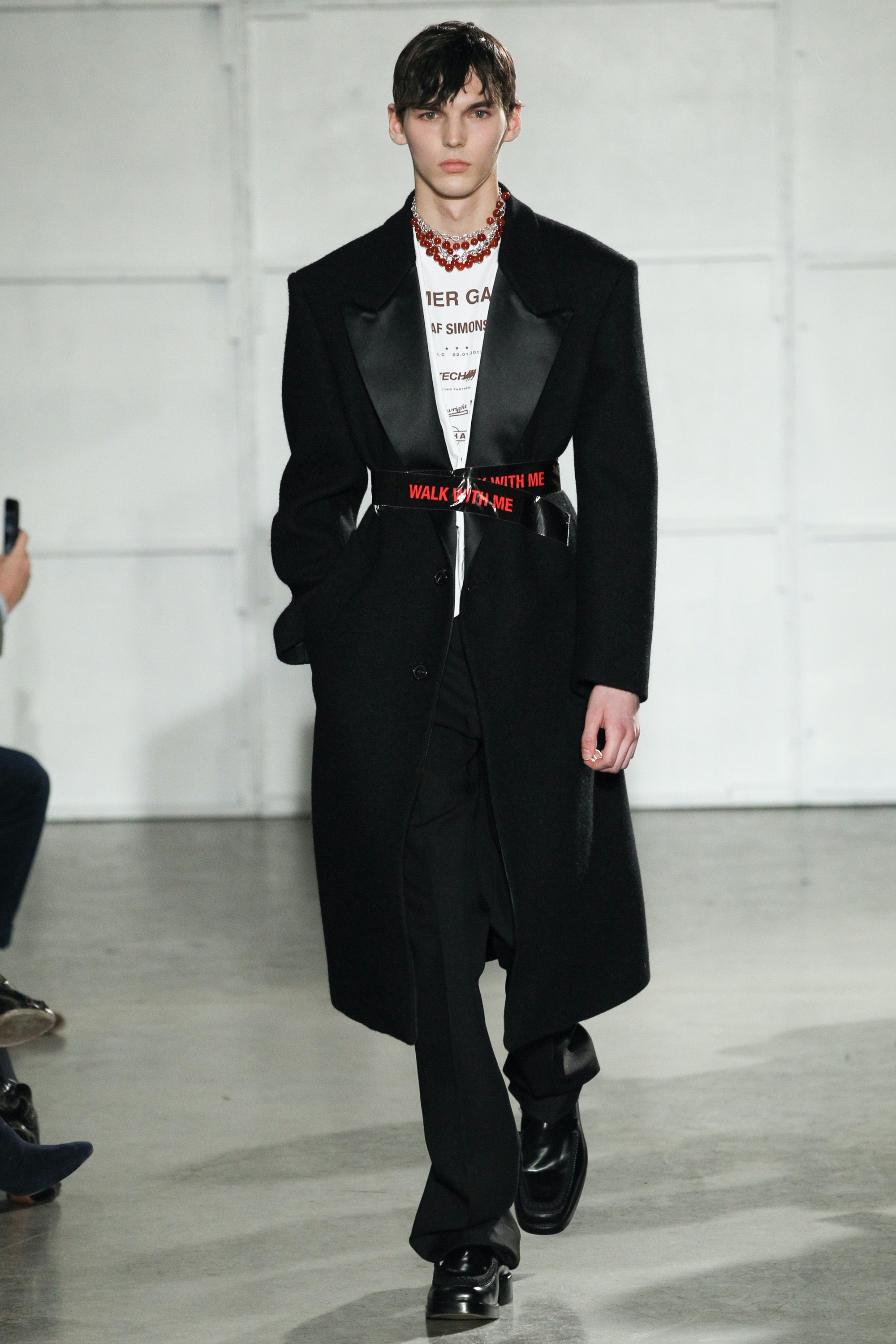 A Fearless Raf Simons In Ny Fashion Show Review Menswear Autumn