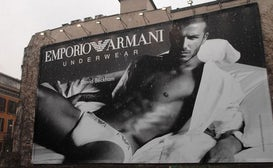 David Beckham billboard in Milan, courtesy of Emporio Armani