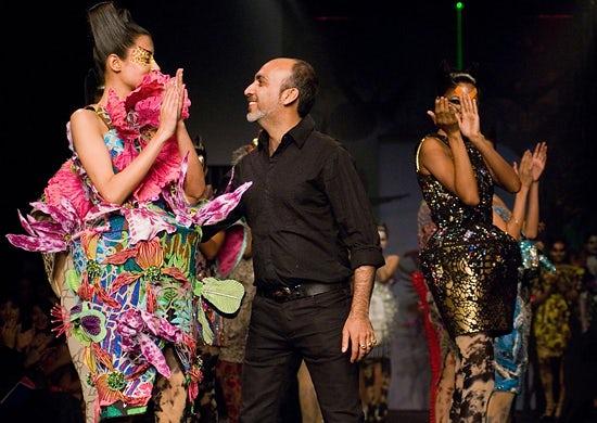 Manish Arora at Wills Fashion Week, courtesy of the International Herald Tribune