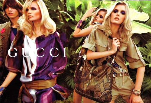 Gucci S/S 09 Ad campaign, courtesy of Gucci