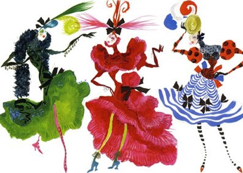 Illustrations by Christian Lacroix recently showcased at the National Museum of Singapore