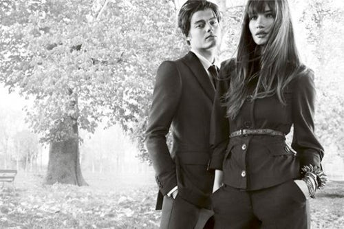 Burberry S/S 09 ad campaign, courtesy of Burberry