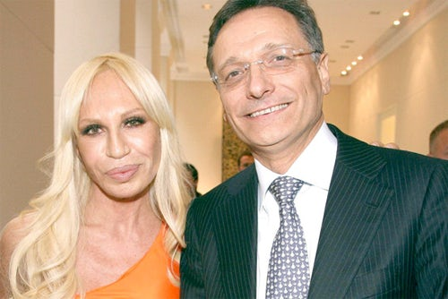 Donatella Versace and Giancarlo di Risio, courtesy of the Wall Street Journal