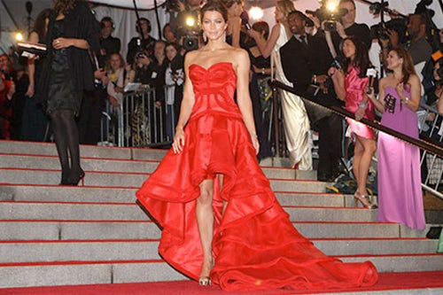 Jessica Biel at the Costume Institute Gala, courtesy of The New York Times