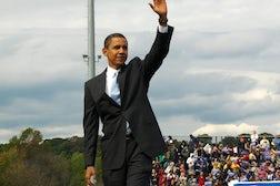 Barack Obama wearing a Hartmarx suit